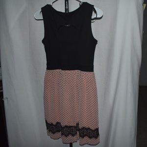 En Focus Studio peach and black lovely dress